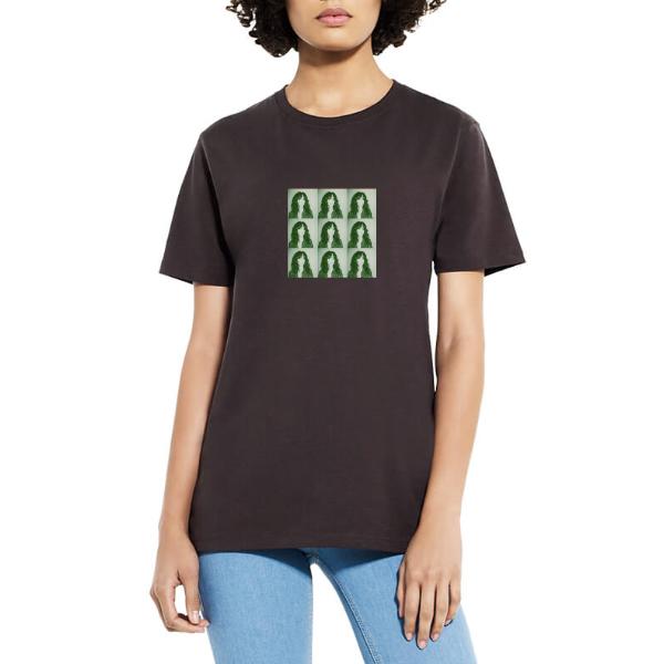 """NENA Portrait"" Shirt, Motiv grün"